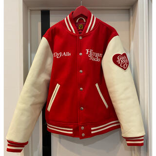A BATHING APE - HUMAN MADE × GDC/RED(XL)VARSITY JACKET