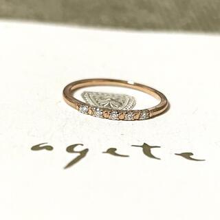 agete - 【agete】アガット K18 ダイヤモンド ピンキーリング 指輪 5号