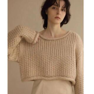 louren basket short knit ベージュ
