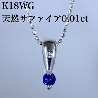 TASAKI - k18WG 天然 サファイア 0.01ct ダイヤ ネックレス