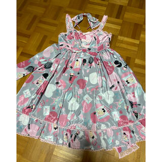 Angelic Pretty - Angelic Pretty lovely shoppingグレーJSKセット