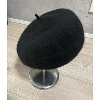 KBF - KBF  ベレー帽 ブラック ウール100%