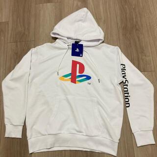 プレイステーション(PlayStation)の新品★ Mサイズ PlayStation プレイステーション パーカー ホワイト(パーカー)