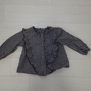 ザラキッズ(ZARA KIDS)のZARAギンガムチェックシャツ(シャツ/カットソー)