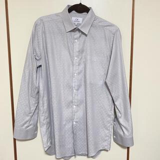 シーケーカルバンクライン(ck Calvin Klein)のCK CALVIN KLEIN メンズ ワイシャツ 長袖 シルバー グレー(シャツ)