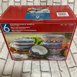 コストコ(コストコ)のコストコ カラフル ふた付ボウル6個セット 新品未使用(容器)