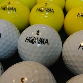 ホンマゴルフ(本間ゴルフ)のホンマ D1 24球③ イエロー,ホワイト ロストボール ゴルフボール(その他)
