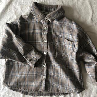 モンミミ チェックシャツ(シャツ/カットソー)
