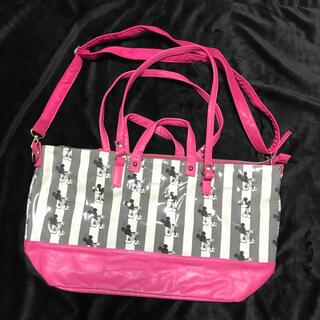Disney - ディズニーストア ショルダーバッグ バッグ ミッキー  2way 旅行 鞄