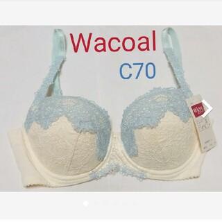 Wacoal - ワコール ブラジャー オフホワイト C70 レース Wing