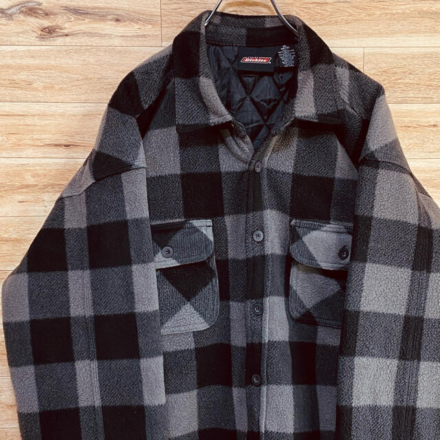 Dickies(ディッキーズ)の【状態良好】ディッキーズ 中綿 フリースシャツジャケット XL ブロックチェック メンズのジャケット/アウター(その他)の商品写真