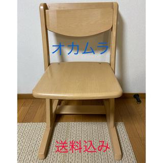 オカムラ 学習椅子 木製 椅子 ピエルナ 岡村製作所(デスクチェア)