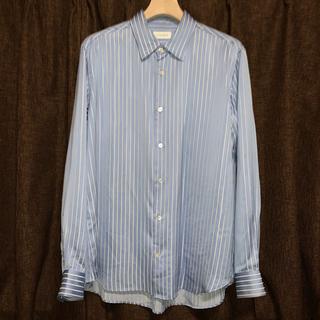 JOHN LAWRENCE SULLIVAN - LITTLE BIG 19AW ストライプサテンシャツ
