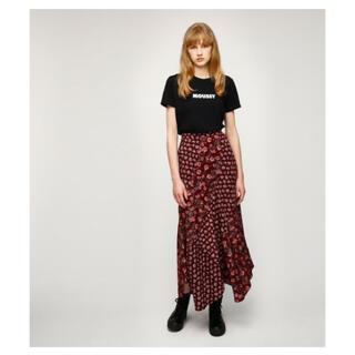 moussy - マウジー moussy 花柄 フラワー マーメイドスカート サテンロングスカート