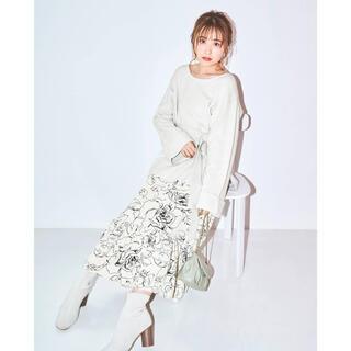 MERCURYDUO - 【完売色】MERCURYDUOフラワーイレヘムニットセット