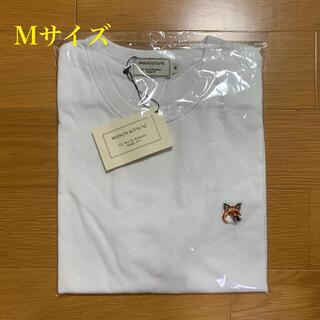 MAISON KITSUNE' - メゾンキツネ フォックスヘッドパッチ Tシャツ 白 Mサイズ