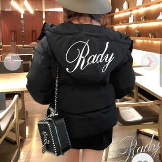 レディー(Rady)のrady  バイカラーフードファイバーダウン(ダウンジャケット)