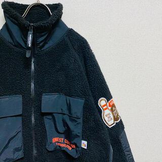 ジーユー(GU)の一点物 美品 ボアフリースジャケット(長袖)STUDIO SEVEN(ブルゾン)