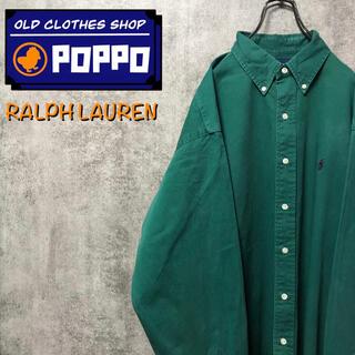 Ralph Lauren - ラルフローレン☆ワンポイント刺繍ロゴビッグチノボタンダウンシャツ 90s