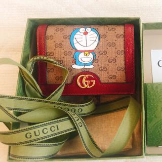 Gucci - 保証書付新品gucci グッチドラえもん財布(カードケース コイン紙幣入れ付き)