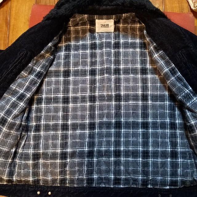 TAKEO KIKUCHI(タケオキクチ)のお値引きTAKEO KIKUCHIボア付中綿コーデュロイジャケブラック4新品同様 メンズのジャケット/アウター(その他)の商品写真