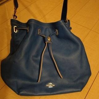 COACH - COACH レザー 鞄 青