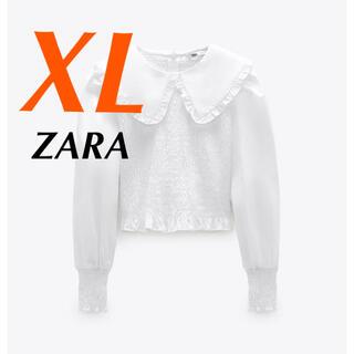 ZARA - ZARA ザラ シャツ ストレッチトリム ポプリントップス