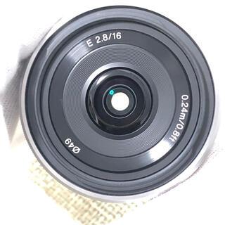 SONY - SONY ソニーE 16mm F2.8単焦点レンズ シルバー