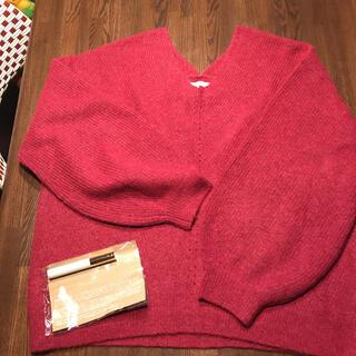 STUDIO CLIP - スタディオクリップ 長袖セーター L ワイン色 試着のみオマケ付き アルパカ羊毛