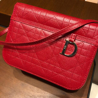 Christian Dior - 【美品】ディオール カナージュ バニティ ハンドバッグ 赤 レザー