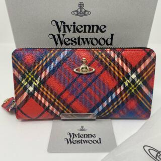 Vivienne Westwood - 未使用☺︎Vivienne Westwood  長財布 タータンチェック 赤