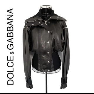 DOLCE&GABBANA - Dolce & Gabbana ドルチェ&ガッバーナ 本革 レザージャケット 黒