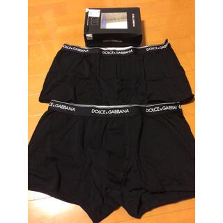 ドルチェアンドガッバーナ(DOLCE&GABBANA)の新品 DOLCE&GABBANA ボクサーパンツ ブラック 2枚 Sサイズ(ボクサーパンツ)
