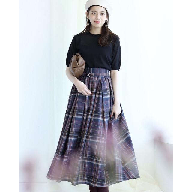 Mystrada(マイストラーダ)の新品 タックギャザースカート マイストラーダ アプワイザーリッシェ レディースのスカート(ロングスカート)の商品写真
