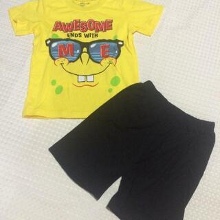 スポンジボブ 子供服 110 パジャマ セットアップ 上下セット 男の子 女の子(Tシャツ/カットソー)