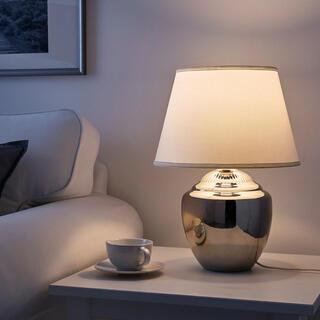 イケア(IKEA)の【完売品】IKEA テーブルランプ RICKARUM リッカルム シルバー(テーブルスタンド)