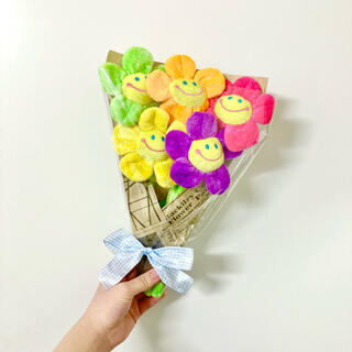 韓国 ぬいぐるみ花束 韓国インテリア スマイルフラワー ソンムル プレゼント