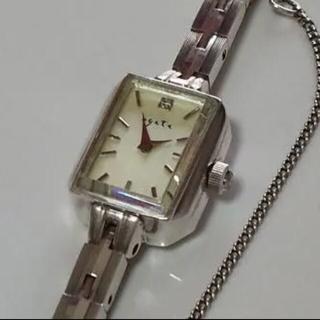 agete 時計 0.02ct スクエア ジュエリーウォッチ ダイヤ