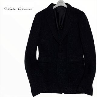 リックオウエンス(Rick Owens)の【リックオウエンス】 テーラードジャケット イタリア製 ブラック(テーラードジャケット)