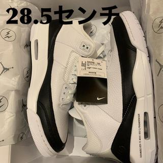 ナイキ(NIKE)のFRAGMENT × NIKE AIR JORDAN 3 WHITE/BLACK(スニーカー)