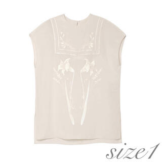 mame - Embroidered French Sleeve Tunic