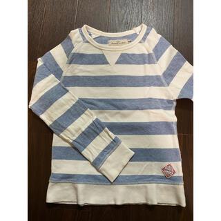 エイチアンドエム(H&M)の▷H&M かすれボーダートレーナー スウェット(Tシャツ/カットソー)