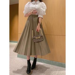 snidel - snidel レザープリーツスカート