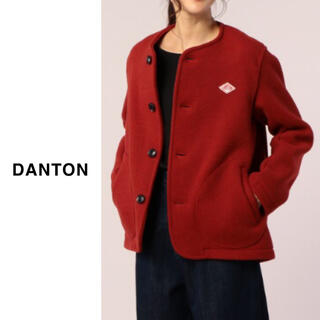 DANTON - DANTON(ダントン) | ウールモッサ カラーレスジャケット レッド