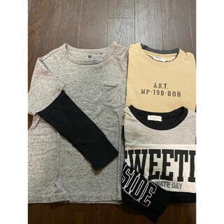 ユニクロ(UNIQLO)の▷ユニクロ、ikka ロンT3枚セット(Tシャツ/カットソー)