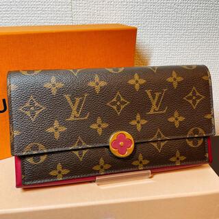 ルイヴィトン(LOUIS VUITTON)の新品同様 ルイヴィトン モノグラム  フロール フューシャ M64585(財布)