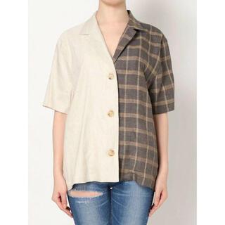 GYDA - 【新品未使用】GYDA バイカラー  チェックシャツ 半袖