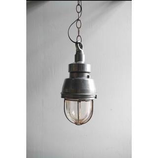 アンティーク フランス製 インダストリアル デッキランプ ライト 照明 電気(天井照明)