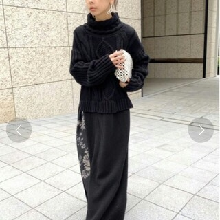 Ameri VINTAGE - アメリヴィンテージ LONG SLIT CABLE KNIT TOP ニット