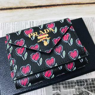 PRADA - ☆特別価格☆ PRADA プラダ  三つ折財布 コンパクト ハート